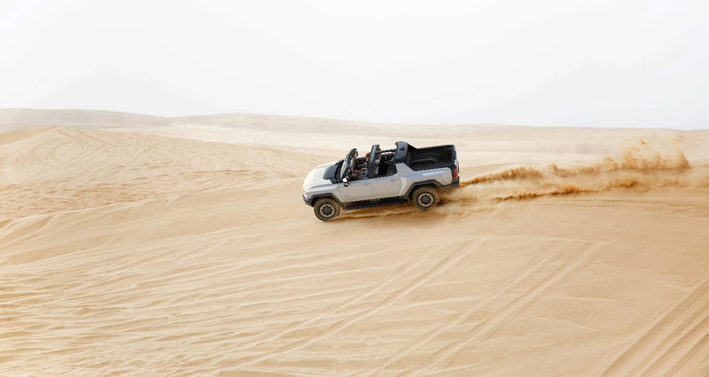 2022 GMC HUMMER EV Edition 1 in the dunes