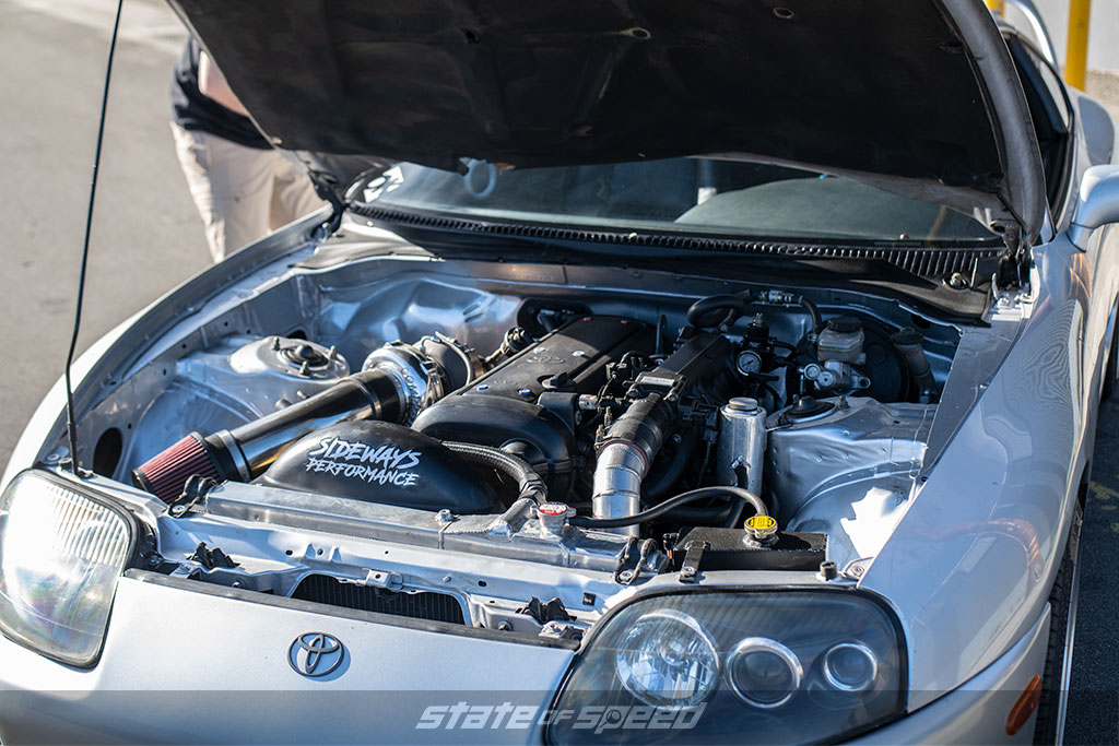 engine bay of supra