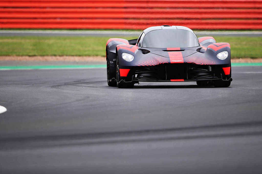On track shot of Aston Martin Valkyrie
