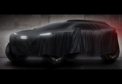 Audi Dakar Rally Race 2022 race vehicle
