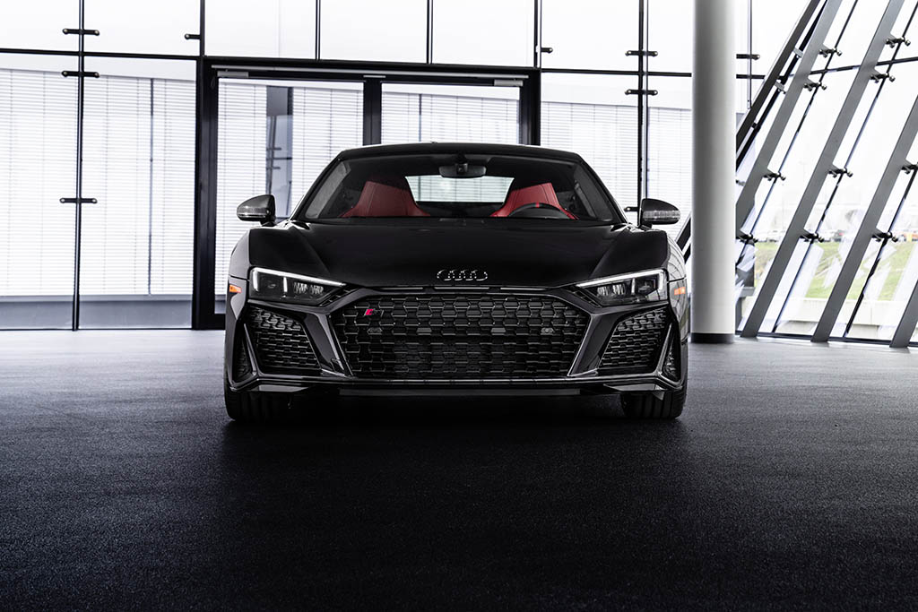 all new 2021 audi r8 panther front shot