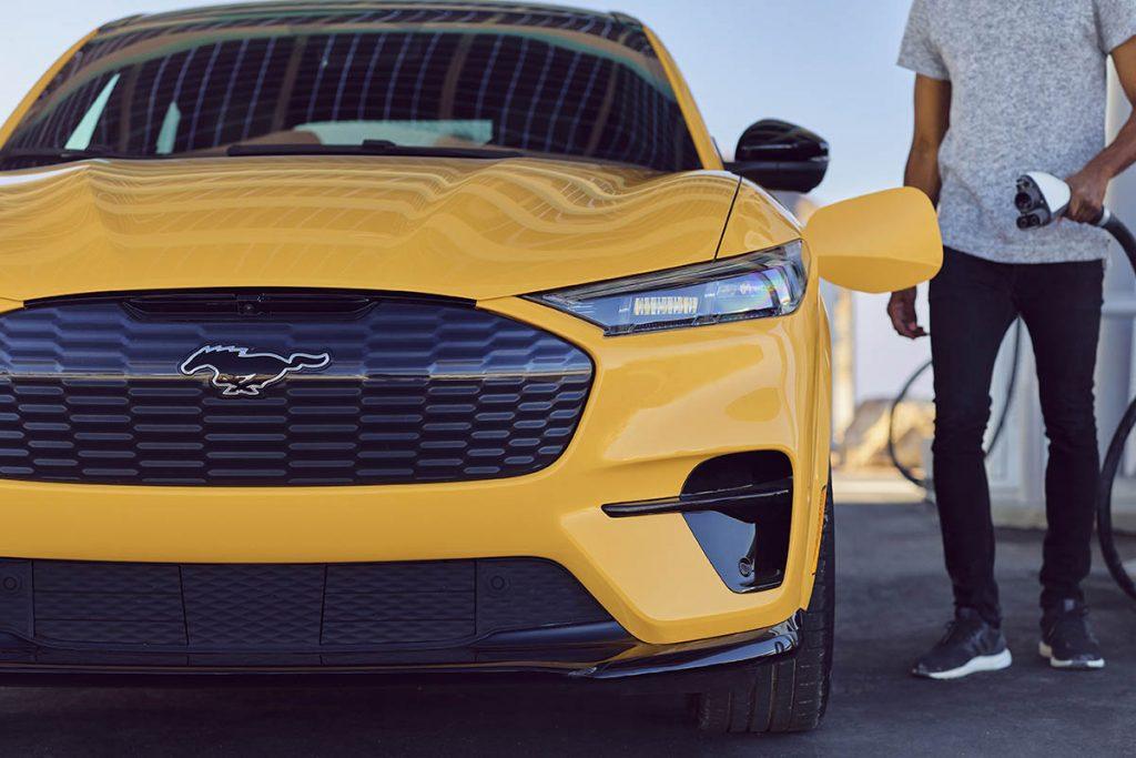 Mustang Mach-E charging
