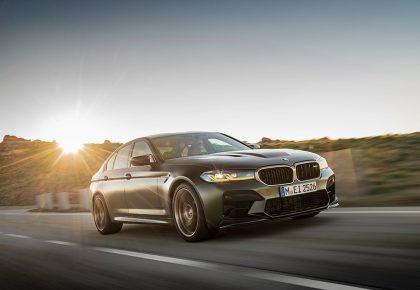 BMW M5 CS rolling shot