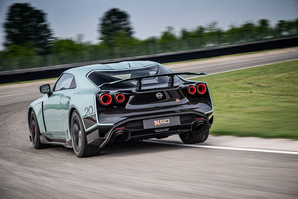 Italdesign Nissan GT-R 50 on the track