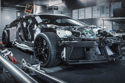 supercar being built