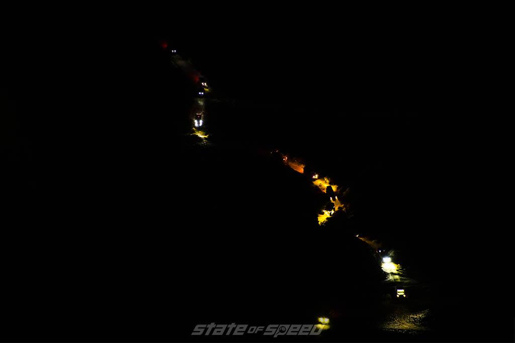 pulling into boriana mine at night