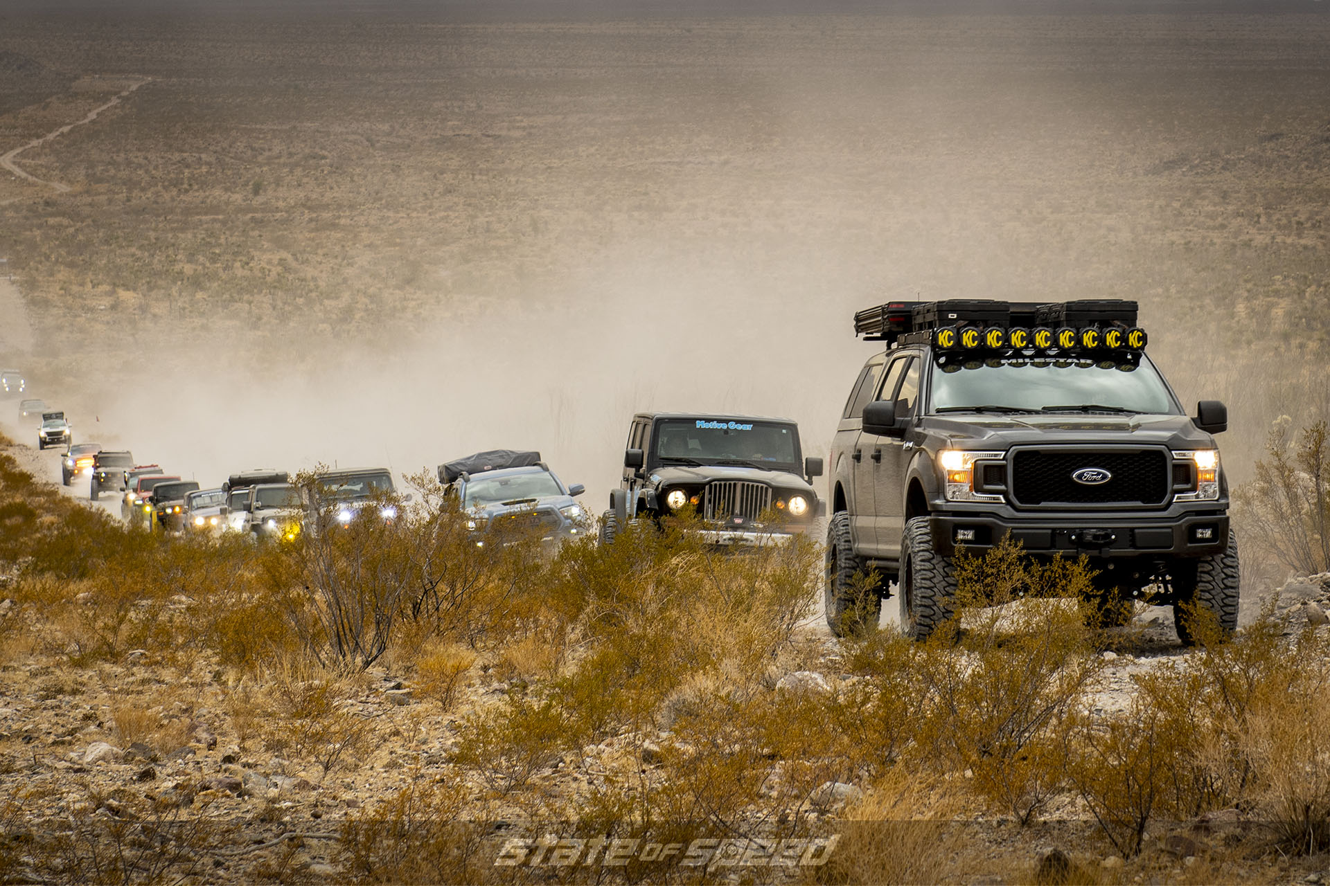 Milestar Tires XPDN1 Ford F-250 and Jeeps at Mojave