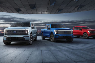 New Ford F150 Lightning electric pickup truck