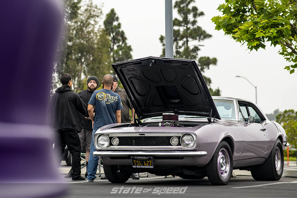 Purple muscle car at State of Speed Los Angeles LA