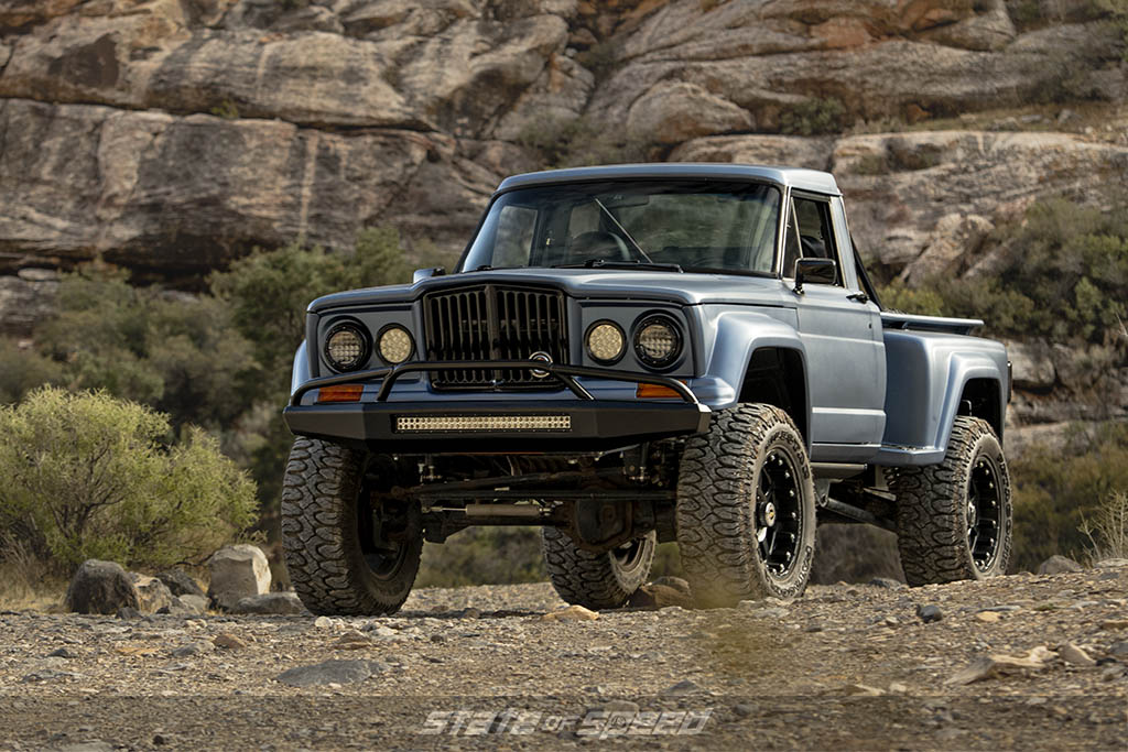 front 3/4 of hodson jeep j10 with srt10 engine
