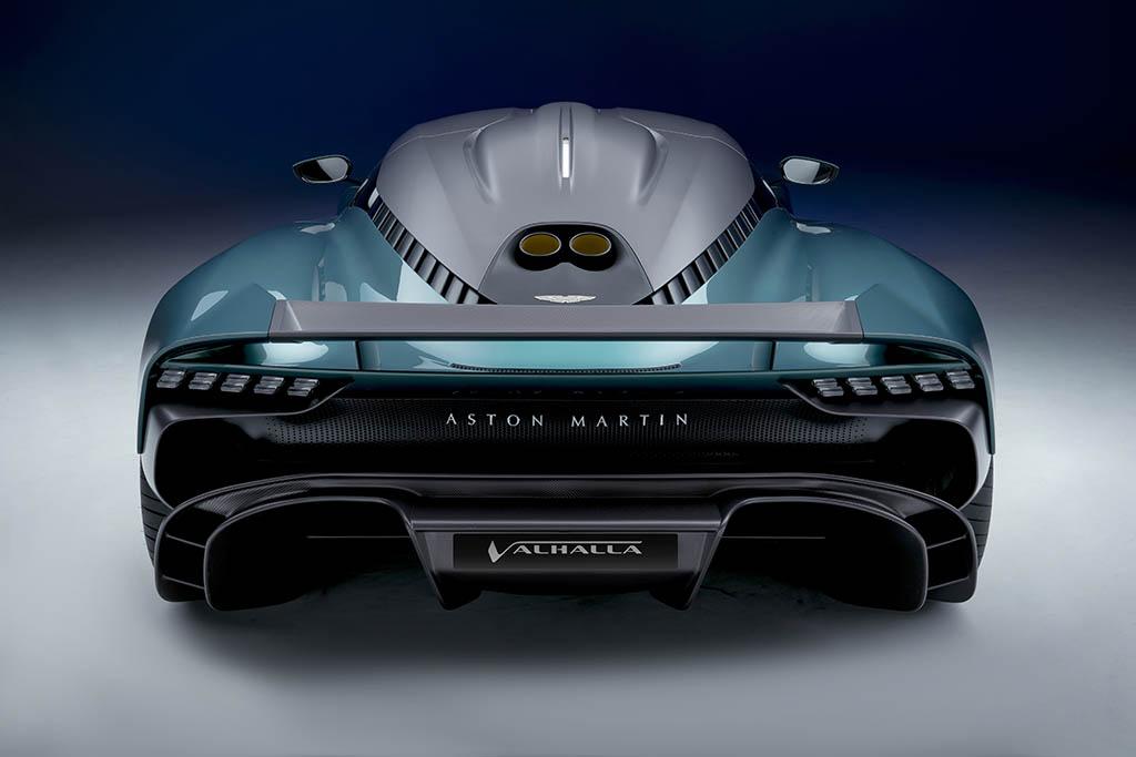 rear shot of new hybrid supercar
