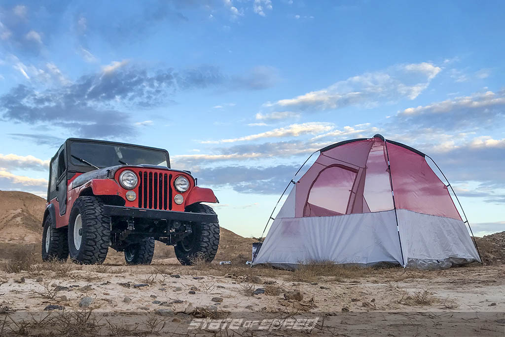 cj5 setting up camp