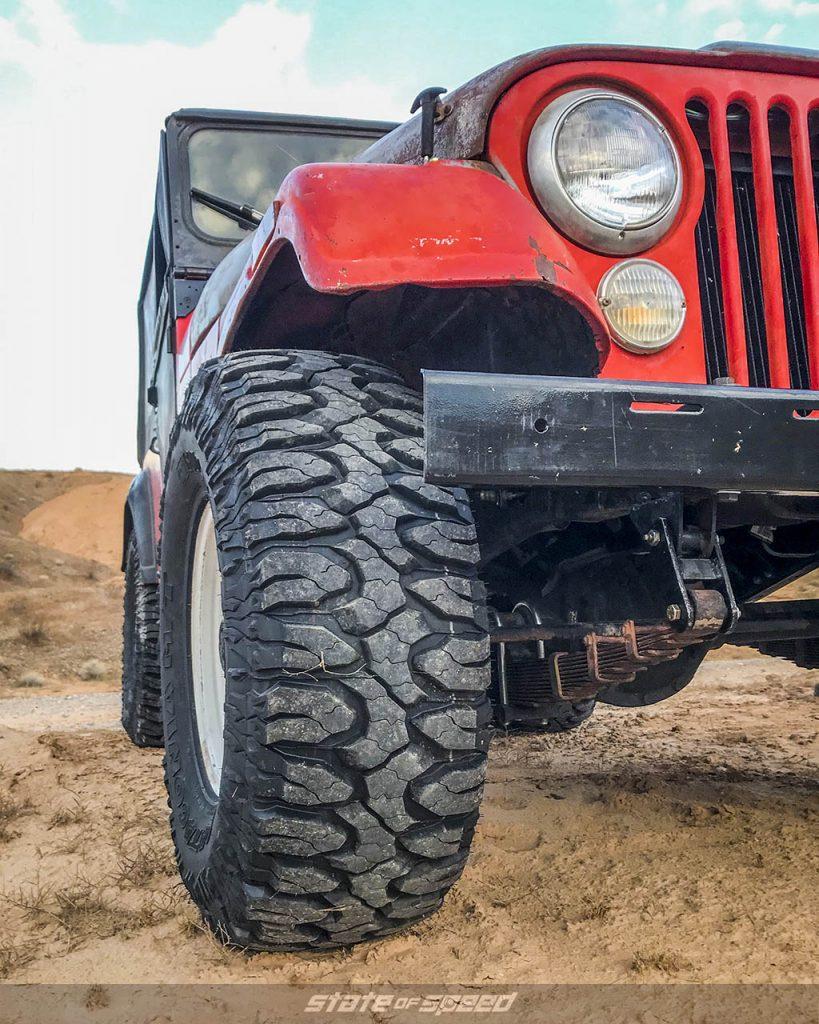 jeep cj5 with milestar patagonia mt