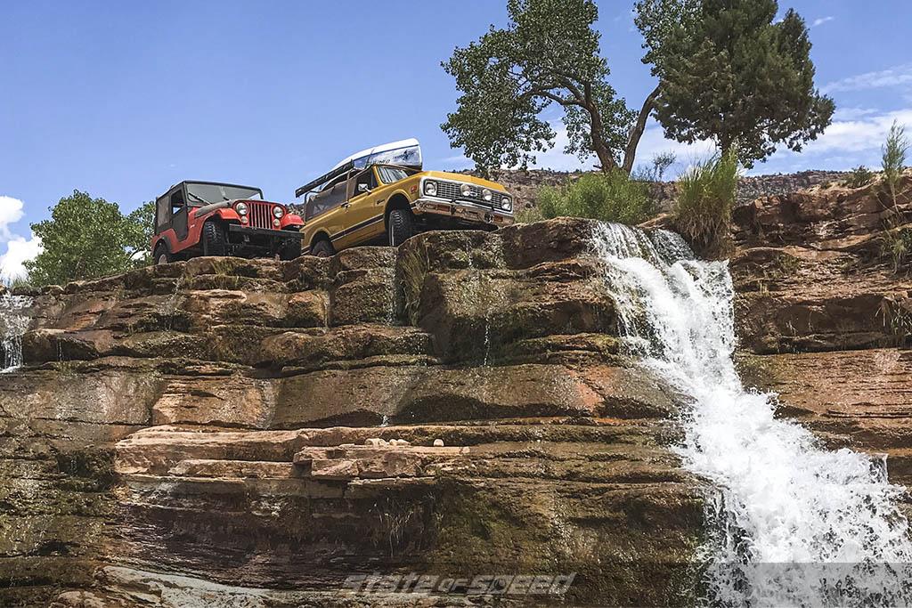 cj5 and k5 blazer waterfall