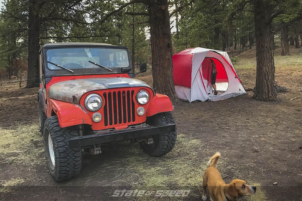 setting up camp overlanding relic run