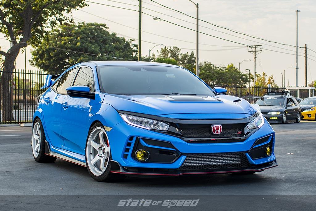 Blue Honda Civic Type-R