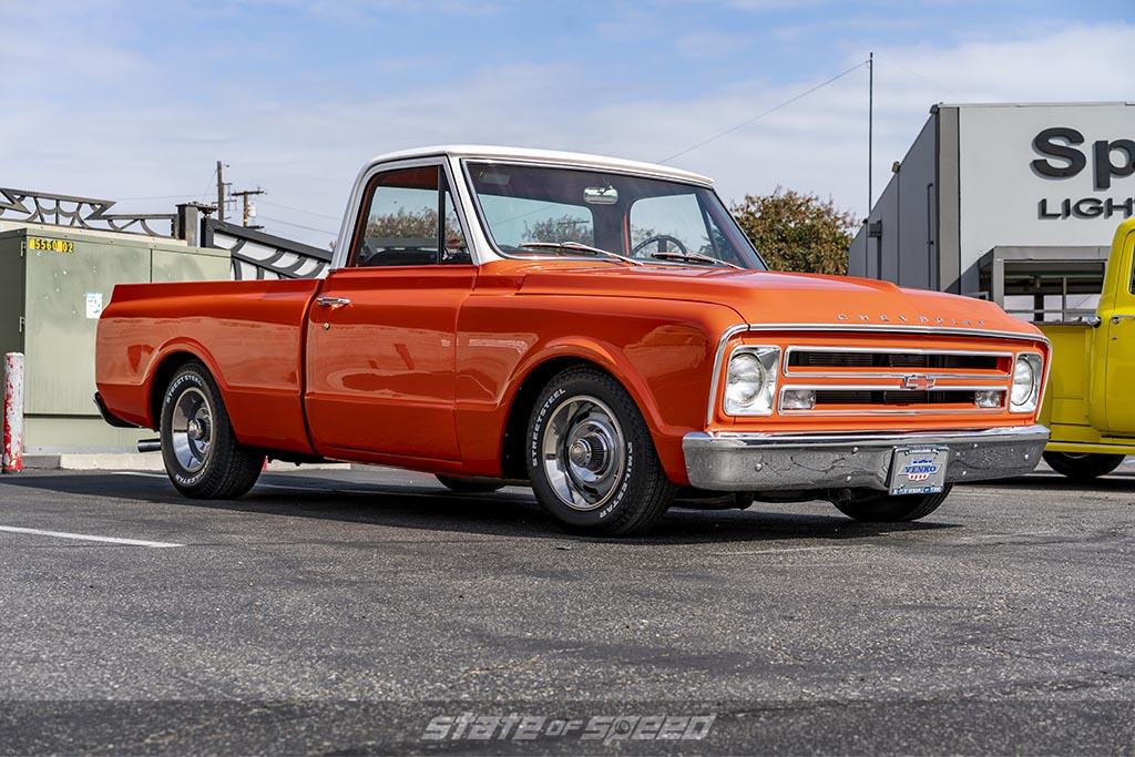 Orange 1968 Chevrolet C-10 by DWS on Milestar Street Steel Tires