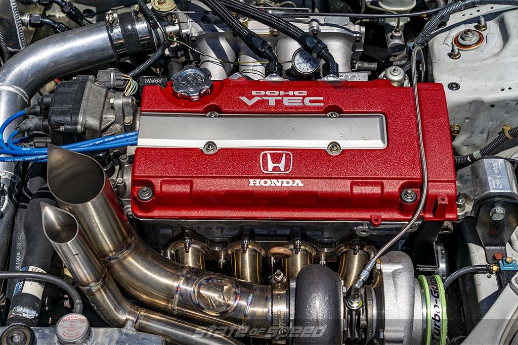 Highly Modified Honda B-Series Engine