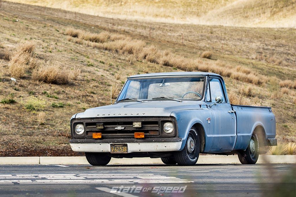 Blue 1967 Chevrolet C-10 by @hillsrod on milestar streetsteel tires P235/70R15