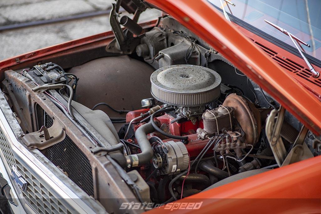 Orange '72 Chevrolet C-10 Stepside by DWS - P275/60R15
