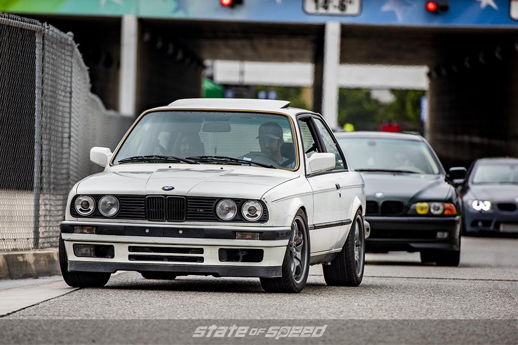 White BMW E30 M3 at a Bimmerfest Event